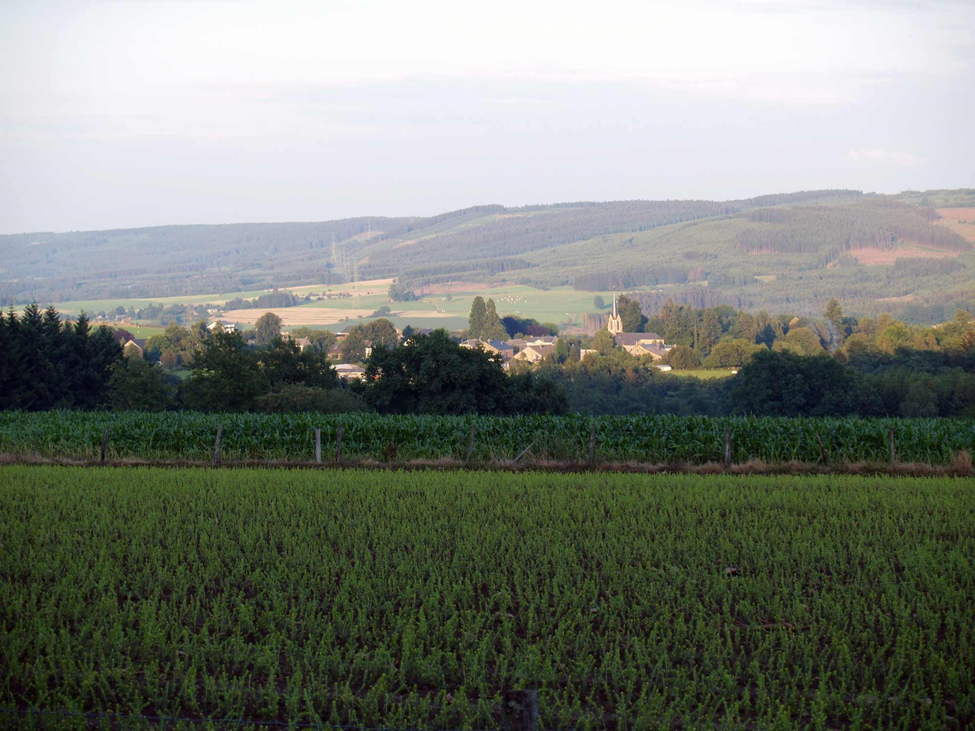 ardenne residences stoumont region landscapes fields nature