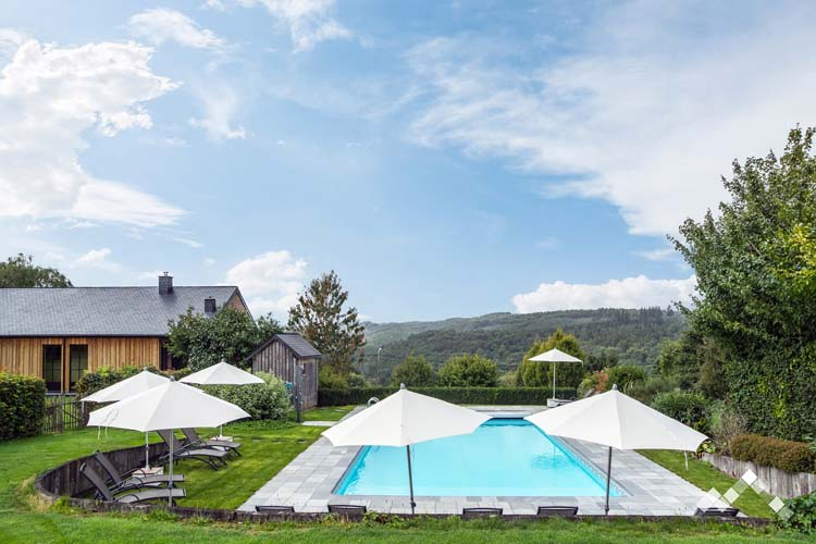 Ardenne residences holiday houses outdoor swimming pool le beau site mirwart esprit badin
