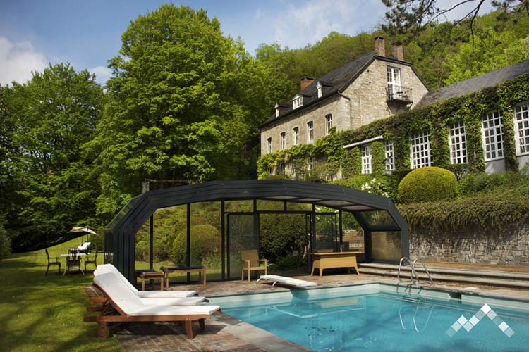 ardenne location chateau luxe groupe piscine exterieure